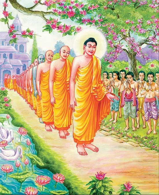 buddha waliking